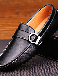Men's Shoes Casual Leather Loafers Black/Blue/White