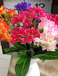 High Quality Artificial Flowers for Home Decoration Bright Color Orchids Silk Flower for Wedding Decorations