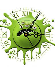 Morden 3D Effect Green Funny Wall Clock 11.8*11.8 inch / 30*30 cm