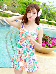 Women's Conjoinedstyle Bathing Suit Skirt Flower Pattern