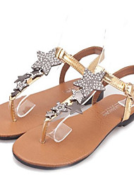 Women's Shoes Faux Leather Flat Heel Gladiator Sandals Dress/Casual Silver/Gold