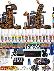 Solong Tattoo Complete Tattoo Kit 2 Pro Machine Guns 40 Inks Power Supply Needle Grips