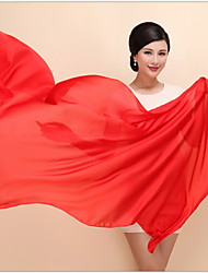 Women Vintage Chinese Red Color Elegant Silk Scarf Shawl