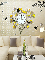 animaux modernes de style design floral horloge murale