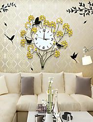 animais de estilo moderno design floral relógio de parede