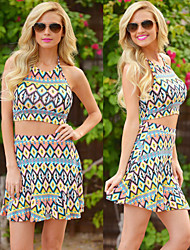 Women's Straps Suits , Polyester Vintage/Sexy/Beach/Casual/Cute/Party Sleeveless Irma