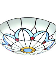 BOXOMIYA® The Diameter of 40Cm Ceiling Lamp Tiffany Lamp European LED Bedroom Garden Lighting Lamps