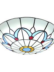 boxomiya® el diámetro de 40 cm del techo de la lámpara tiffany lámpara de lámparas de iluminación europeo jardín dormitorio llevado