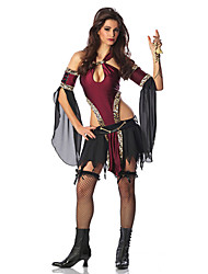Retro Black Chiffon & Spandex Halloween Female Vampires Costumes