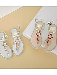 Women's Shoes  Low Heel Mary  Sandals Casual Silver/Gold