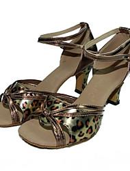 Zapatos de baile ( Leopardo ) - Danza latina - No Personalizable - Tacón Cubano