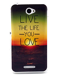Love life  Pattern TPU Soft Case for Sony E4
