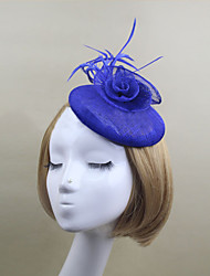 Women Satin/Net British Style Flowers/Hats With Wedding/Party Headpiece(More Colors)