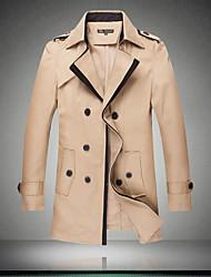Men's Paragraph dust Coat grows in men's wear blue windbreaker khaki men coat have big yards