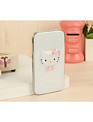 Кристалл Китти белый 5000mAh мульти-мощность банк внешняя батарея для iphone6 / Samsung Примечание 4 и других мобильных устройств