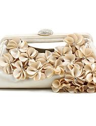 Handbag Silk/Polyester Evening Handbags/Clutches/Wallets & Accessories With Flower