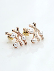 Earring Stud Earrings Jewelry Women Alloy / Imitation Pearl / Gold Plated 1set Gold / Silver