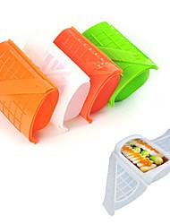 красочные прямоугольник наклонена пряжки коробка обеда силиконовые микроволновая пароход (случайный цвет)