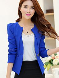 Women's Fashion OL One Button Long Sleeve Slim Short Blazer