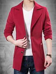 Men's Casual Long Sleeve Regular Coat