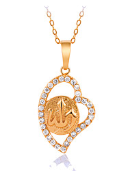 JJL Women's Fashion Elegant Hollow Out Heart-Shaped 18k Gold-Plated Pendant