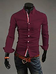 Yoonheel Men's Long Sleeve Shirt,Polyester Casual / Work / Formal Pure