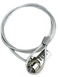 câble de verrouillage combinaison de sécurité pour ordinateur portable argent 100cm