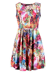 Women's Sexy Beach Party Casual Floral Slim Dress