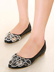Women's Shoes  Flat Heel Ballerina/Pointed Toe Flats Casual Black/Silver/Gold