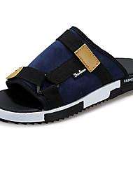 Zapatos de Hombre Casual Tejido Sandalias Azul