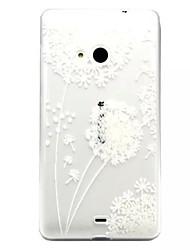 Для Кейс для Nokia Прозрачный / Рельефный Кейс для Задняя крышка Кейс для Одуванчик Мягкий TPU Nokia Nokia Lumia 535 / Nokia Lumia 435