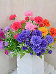 High Quality Artificial Flowers for Home Decoration Bright Color Chrysanthemum Silk Flower for Holiday Decorations