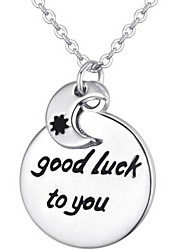 Women's Good Luck Moon Alloy Necklace Collarbone Chain