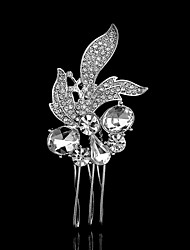 Palace Hairpins Comb for Women Rhinestone Crystals Wedding Hair Accessories Party Wedding Bridal Jewelry(6CM*3CM)