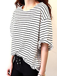 Bats short sleeve T-shirt stripe base body unlined upper garment jacket
