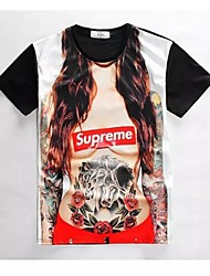Men's High Quality Creative Special Funny Beauty Sexy Summer Breathable 3D Style T-Shirt——Tattoo Female