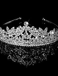 Queen Diamond Crystal Rhinestone  Silver Handmade Flower Wedding Bride Comb For Vintage Wedding Party