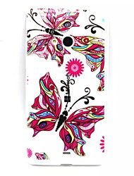 For Nokia Case Transparent / Embossed Case Back Cover Case Butterfly Soft TPU Nokia Nokia Lumia 535 / Nokia Lumia 435