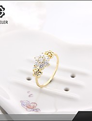 Sjeweler Girls Promise 24K Gold Plated Zircon Ring
