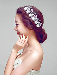Korea Style White Flowers/Crystal stones Wedding/Party Headpieces/Hair Accessories