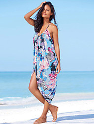 Women's Floral Print Tulip Beach Slip Dress