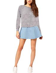 Women's Loose Causal Denim Jean Skirt