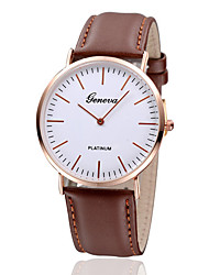 Men's Watch Dress Watch Calendar Quartz Leather Band