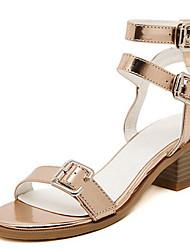 Women's Shoes Flat Heel Ankle Strap Sandals Dress Black/Silver/Gold