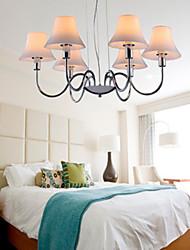 lámparas de araña de cristal 6 luces de metal cromado galvanoplastia sencilla 220v moda moderna