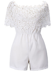 Women's Sexy Beach Casual Lace Chiffon Slim Jumpsuit