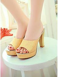 Women's Shoes  Stiletto Heel Peep Toe Slippers Party & Evening/Dress Black/Silver/Gold