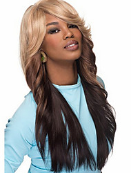 2015 Synthetic Sair Fashionable Synthetic Wigs American Long Blonde Ombre Wig Full Natural Wigs for Black Women