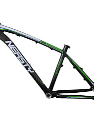 "MB-NT02 Neasty Brand 2016 New Painted Green White Color Painted High Qulity 26er Full Carbon Fiber Mtb Frame 15""/17"""
