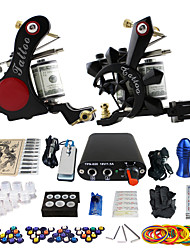 solong tattoo beginner tattoo kit 2 promachine s voeding naald grips tips